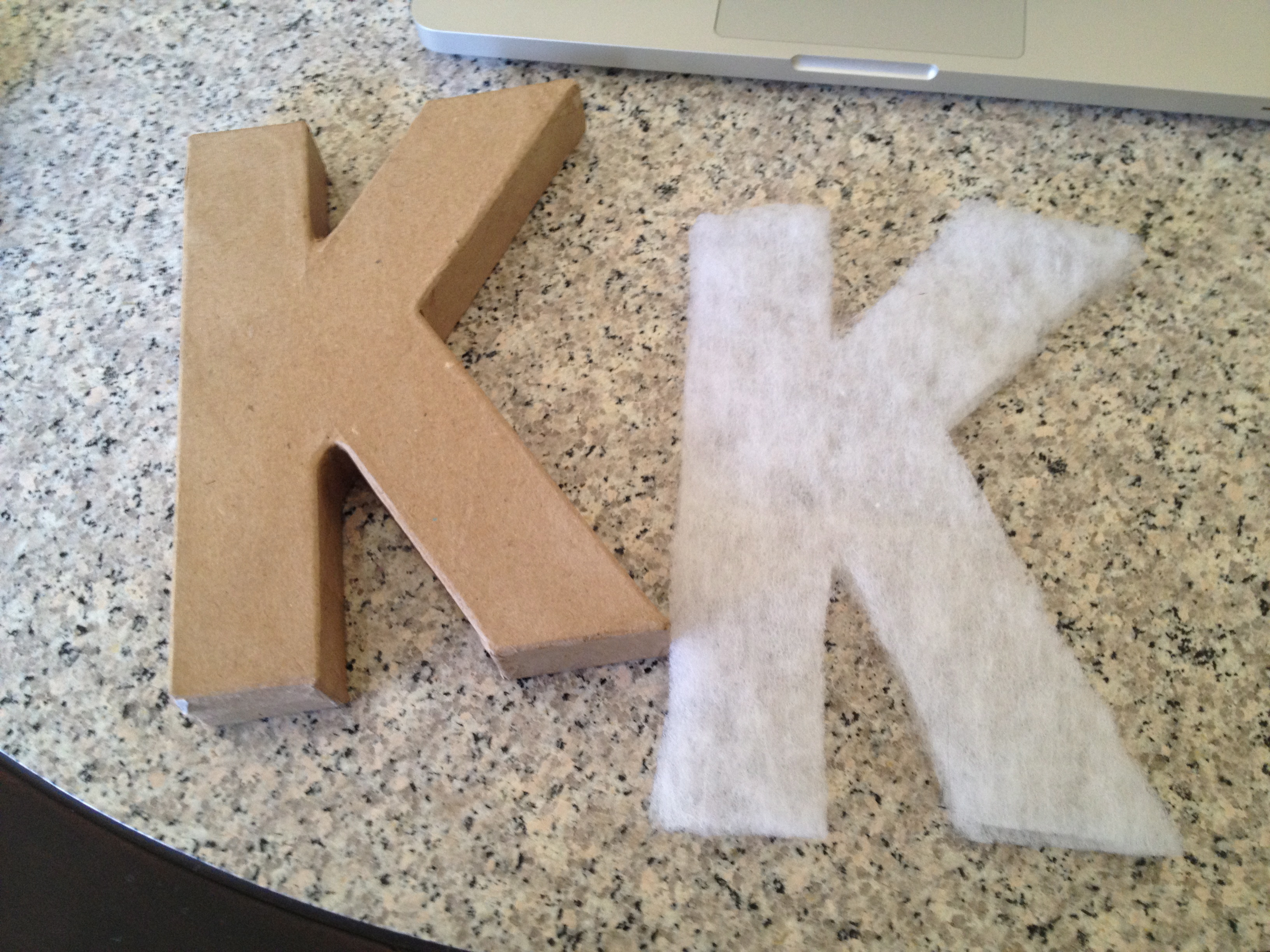 how to cover cardboard letters with fabric - cardboard letters for the love of felt