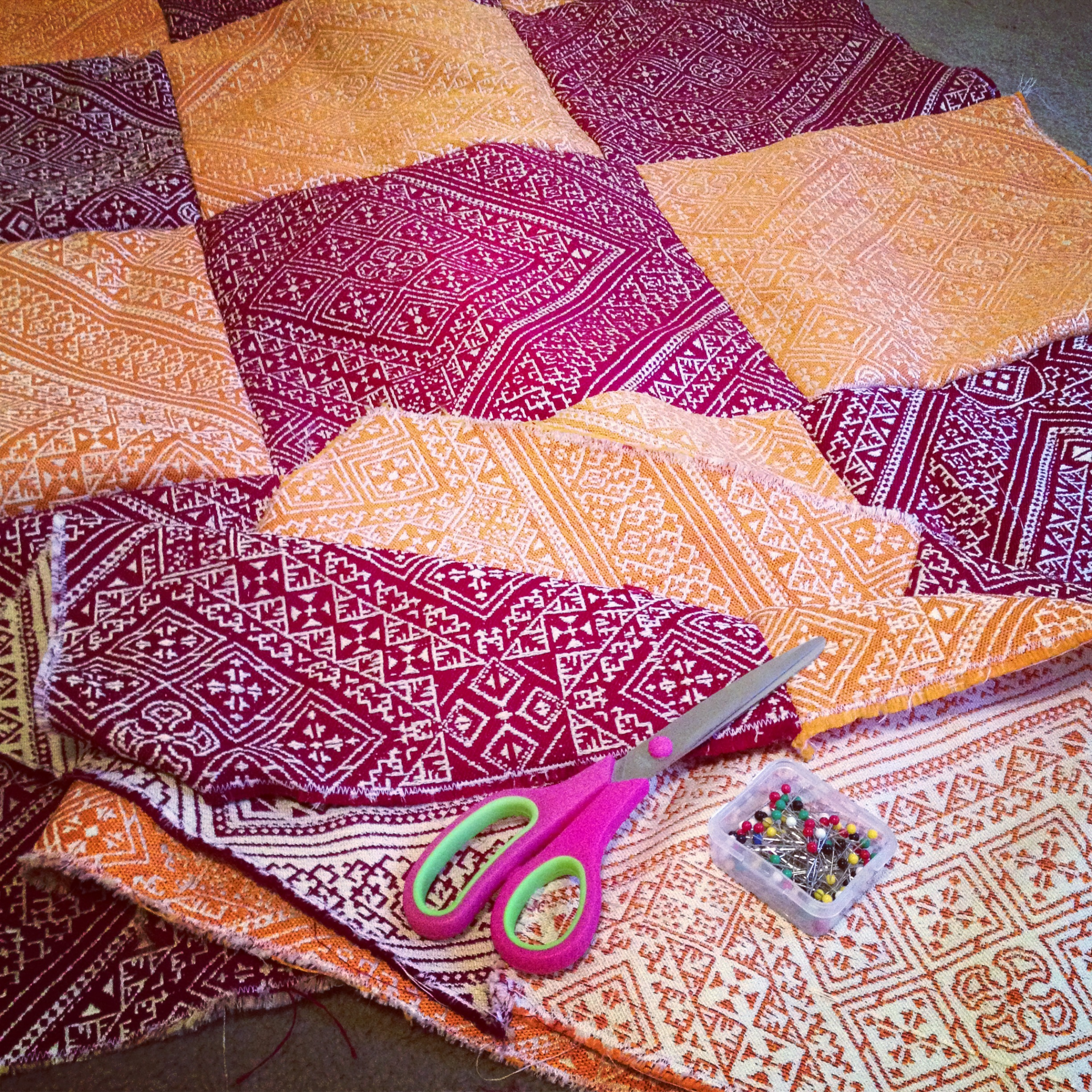 Quilting with Moroccan Fabric Â« For the Love of Felt : moroccan quilts - Adamdwight.com