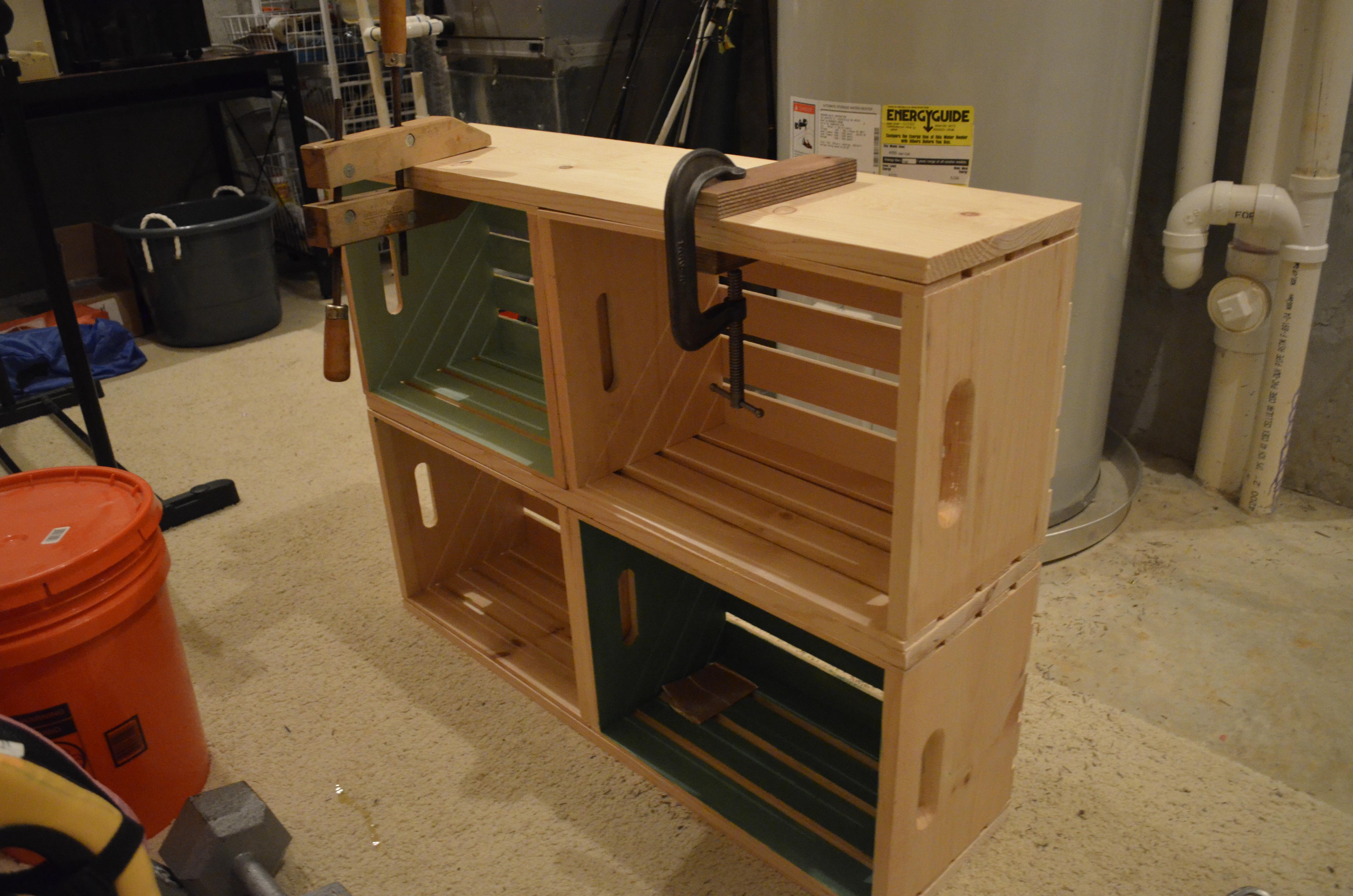 DIY Ombr Crate Bookshelf For The Love Of Felt