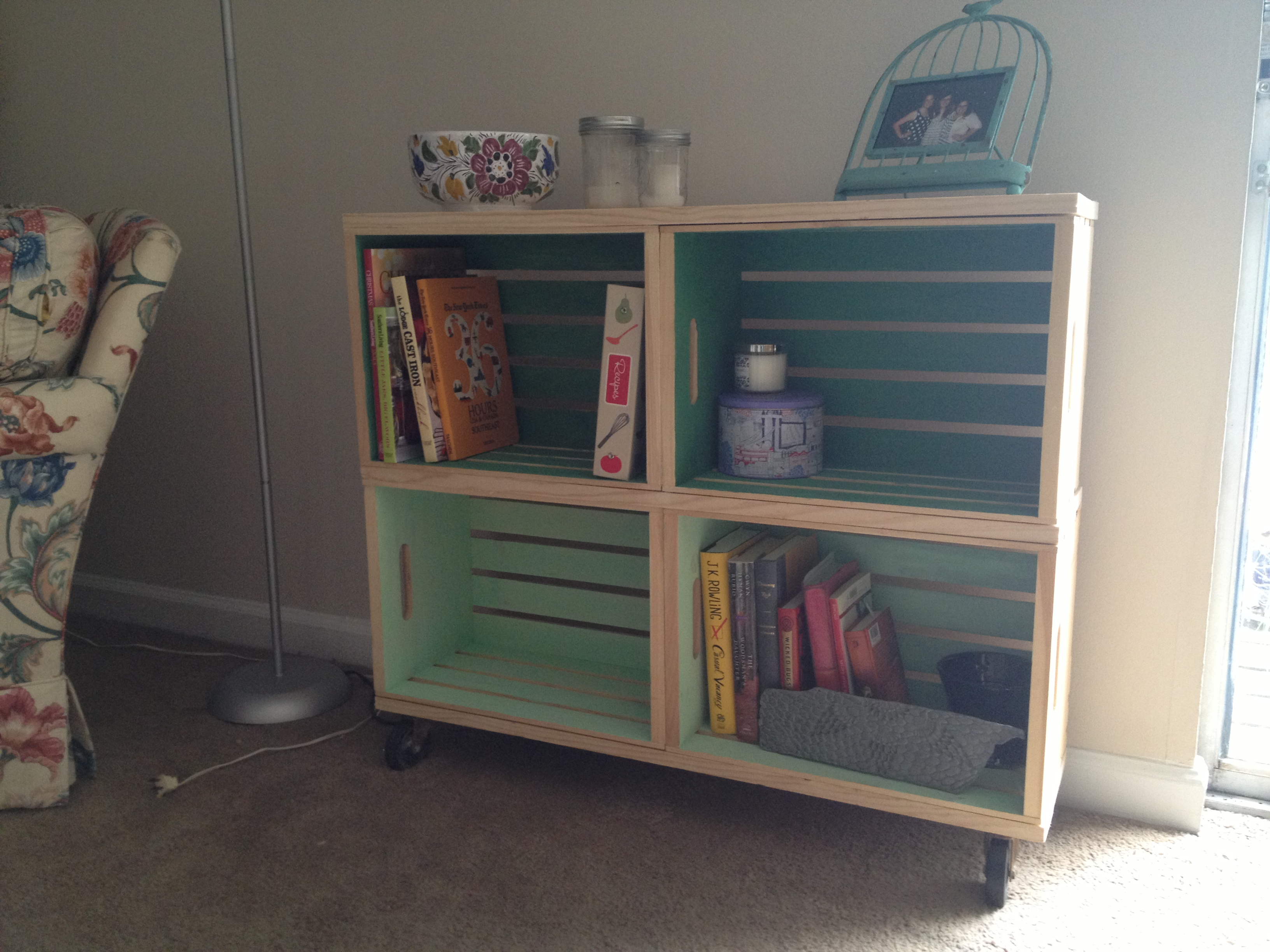 DIY Ombre Crate Bookshelf For The Love Of Felt