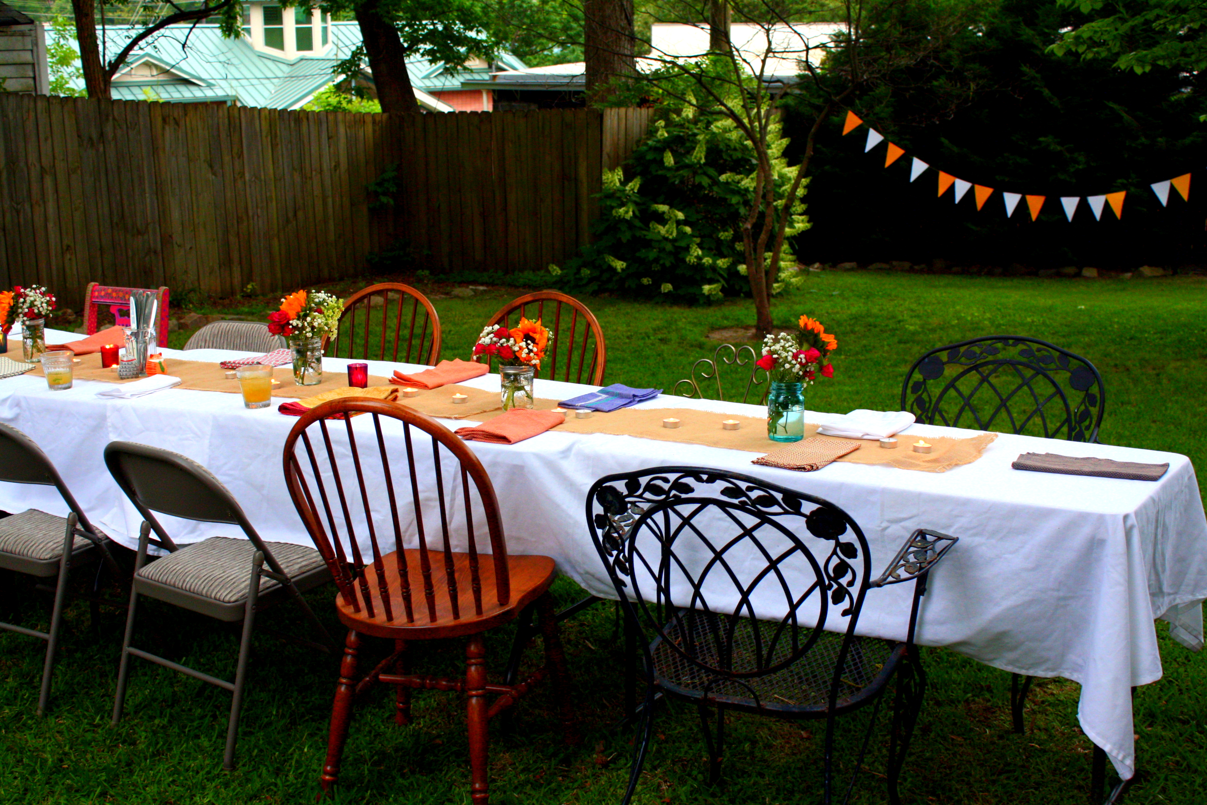 my farm to table birthday dinner party for the love of felt